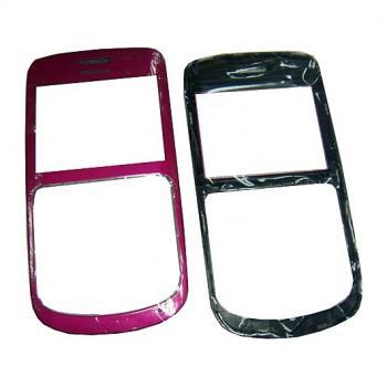Стекло Nokia C3 розовое, в комплекте верхняя панель