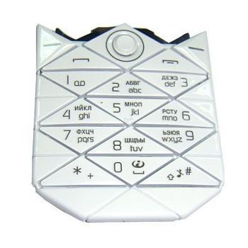 Клавиатура Nokia 7500 белая (рус/англ)