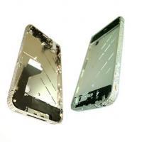 Средняя часть корпуса iPhone 4 серебристая c кристалами Swarovski