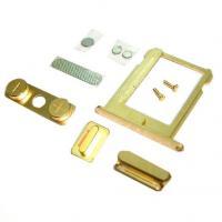Набор внешних кнопок iPhone 4 + лоток SIM карты золотистого цвета