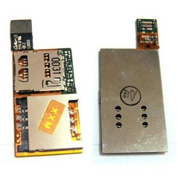 Шлейф HTC 7 Surround T8788 в комплекте держатель SIM и карты памяти