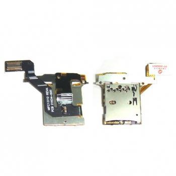Шлейф BlackBerry 9700 с контактами и лотком карты памяти (оригинал Китай)