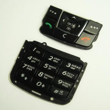 Клавиатура Samsung E250 черная (рус/англ)