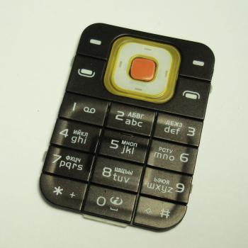 Клавиатура Nokia 7370 7373 коричневая (рус/англ)