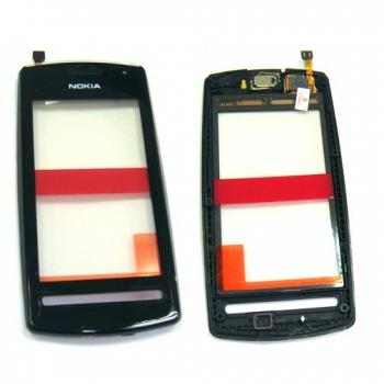 Сенсорный экран Nokia 600 черного цвета, с рамкой