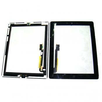 Сенсорный экран iPad 3 черный + шлейф и кнопка HOME (оригинальные комплектующие)