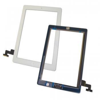 Сенсорный экран iPad 2 белый + шлейф и кнопка HOME (оригинальные комплектующие)