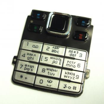 Клавиатура Nokia 6300 серебристая (рус/англ)
