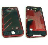 Средняя часть корпуса iPhone 4 красная + боковые кнопки, шлейфы и динамики