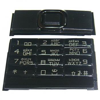 Клавиатура Nokia 8800 Arte черная (рус/англ)