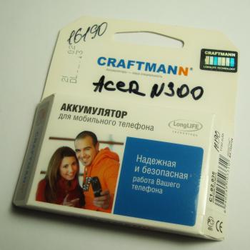 Аккумуляторная батарея Acer N300 CRAFTMANN (1150mAh)