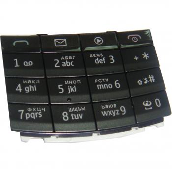 Клавиатура Nokia X3-02 черная (рус/англ)