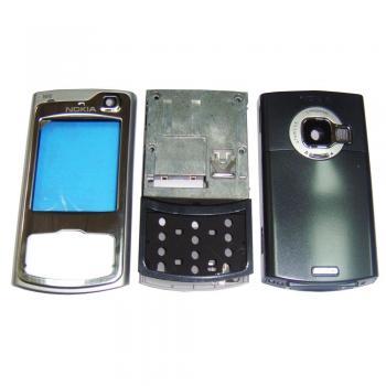 Корпус Nokia N80 серебристый, в комплекте слайдер