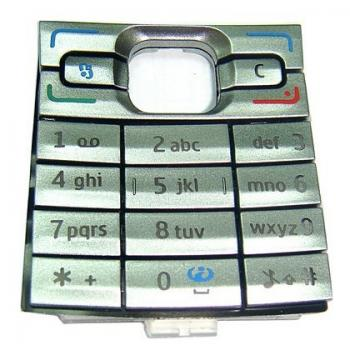 Клавиатура Nokia E50 серебристая