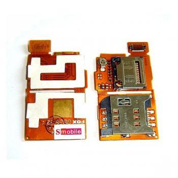 Шлейф Sony Ericsson W350i + разъёмы SIM и карты памяти