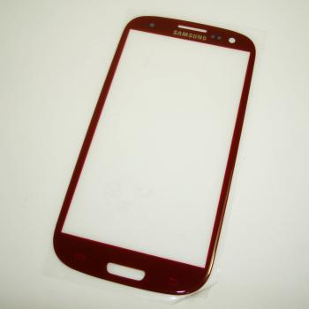 Стекло Samsung i9300 Galaxy S3 красное