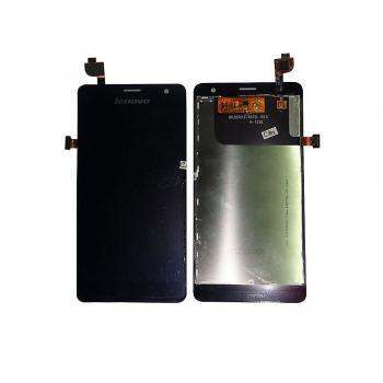 Дисплей Lenovo K860 с сенсором, черный (оригинал БУ, снято с аппарата)