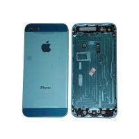 Задняя крышка корпуса iPhone 5 голубая + внешние кнопки и лотком SIM карты