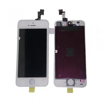 Дисплей iPhone 5S / SE с сенсором и рамкой, белый (оригинал)