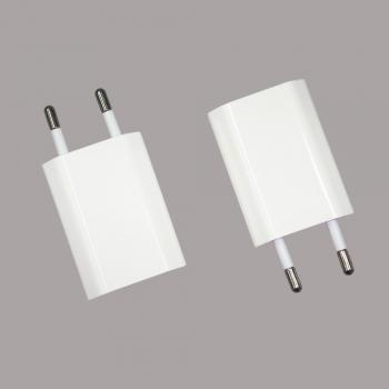 Сетевое зарядное устройство (USB адаптер) iPhone белое (копия AAA)
