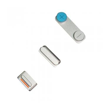 Набор внешних кнопок iPhone 5S (3 шт.) серебристые (оригинал)