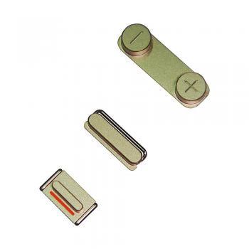 Набор внешних кнопок iPhone 5S (3 шт.) золотистые (оригинал)