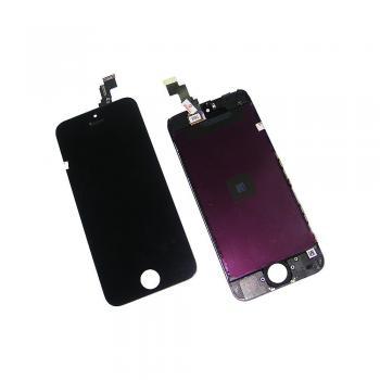 Дисплей iPhone 5C с сенсором и рамкой, черный (оригинал)