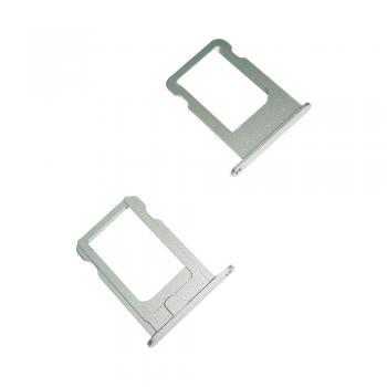 Держатель, внешний слот SIM карты iPhone 5S / SE серебристый (оригинал)