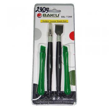Набор инструмента BK-7280-D (скальпель, 1 металлическая и 2 пластиковые лопатки)