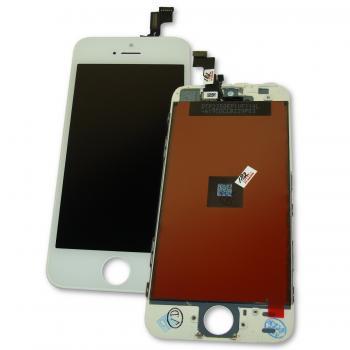 Дисплей iPhone 5S / SE с сенсором и рамкой, белый (оригинальная матрица)