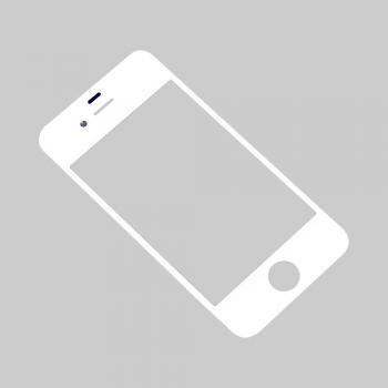 Стекло дисплея iPhone 4S белое