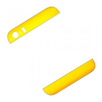 Набор внешних вставок на крышку корпуса iPhone 5S золотистые (2 шт. - верняя и нижняя)