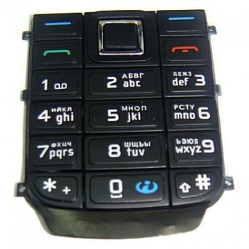 Клавиатура Nokia 6151 черная (рус/англ)