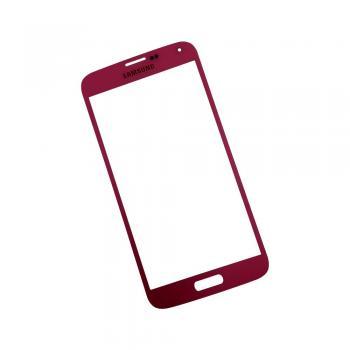 Стекло Samsung i9600 G900 Galaxy S5 красное