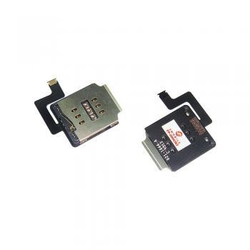 Разъём SIM карты с контактами для iPad Air на шлейфе (оригинал)