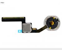 Кнопка HOME внешняя для iPad Mini 3 белого цвета, кольцо - золотистое + шлейф (оригинал)