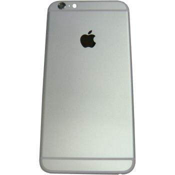Задняя крышка корпуса iPhone 6 Plus серебристая + внешние кнопки и держатель SIM карты