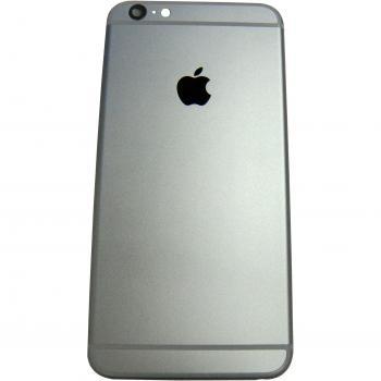 Задняя крышка корпуса iPhone 6 Plus серая + внешние кнопки и держатель SIM карты