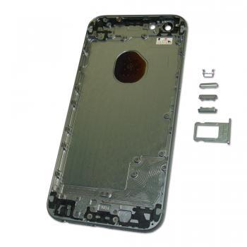 Задняя крышка корпуса iPhone 6 серая + внешние кнопки и лотком SIM карты