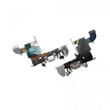 Шлейф iPhone 6S + разъемы зарядки и под наушники светло-серые (оригинал)