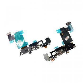 Шлейф iPhone 6S Plus + разъемы зарядки и под наушники серые (оригинальные комплектующие)