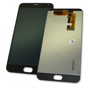 Дисплей Meizu M2 Note с сенсором, черный (оригинал Китай)
