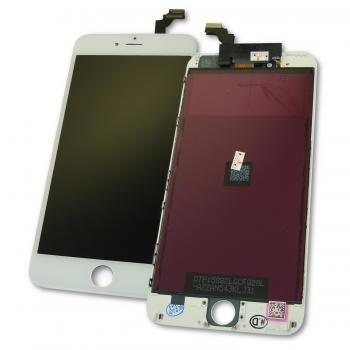 Дисплей iPhone 6 Plus с сенсором и рамкой, белый (оригинальная матрица)