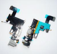 Шлейф iPhone 6 + разъемы зарядки и под наушники темно серые (копия)