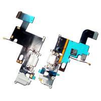 Шлейф iPhone 6 + разъемы зарядки и под наушники светло серые (копия)
