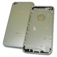 Задняя крышка корпуса iPhone 7 серебристая + внешние кнопки и держатель SIM карты (копия AAA)