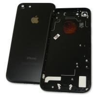 Задняя крышка корпуса iPhone 7 черная + внешние кнопки и держатель SIM карты (копия AAA)