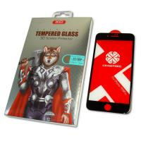 Защитное закаленное стекло XO FD1 для iPhone 8 Plus / 7 Plus полноэкранное черное 0.26 мм 9H+ 3D (оригинал)