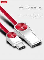 Lightning кабель зарядки и синхронизации XO NB19 CD Grain Zinc Alloy для iPhone iPad iPod красный (200 мм)