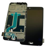 Дисплей OnePlus 5 с сенсором и рамкой, черный (оригинальные комплектующие)